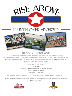 1940 Air Terminal Museum presents Rise Above Traveling Exhibit