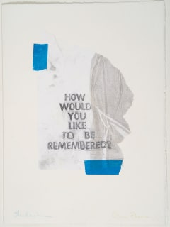 Luciole International Theatre presents How would you like to be remembered?