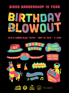 Birds Barbershop 10-Year Birthday Blowout Party