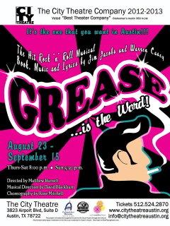 Grease presented by the City Theatre Company