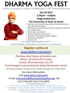 Dharma Yoga Fest lineup schedule