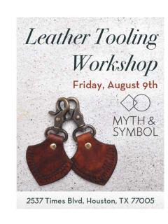 Myth & Symbol Workshop: Leather Tooling