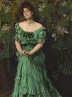 Lady in Green, 1908 by Marie Cronin