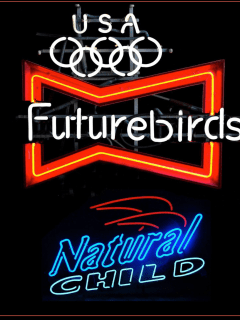 neon signs for Futurebirds and Natural Child tour