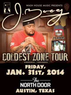 poster for J. Boog at the North Door