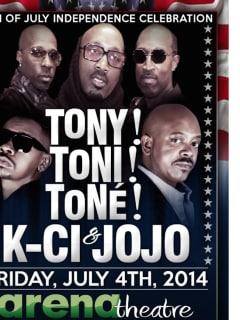 Tony! Toni! Toné! in concert with Kci & JoJo