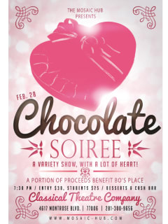 """Mosaic Hub presents """"Chocolate Soiree: A Variety Show with a lot of Heart"""""""