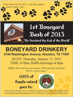 First Boneyard Bash of 2013 benefiting Scout's Honor Rescue