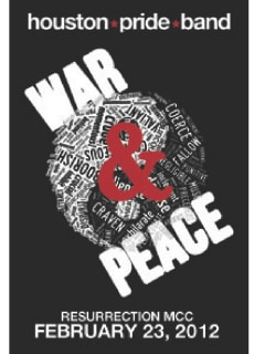 """Houston Pride Band presents """"War and Peace"""""""