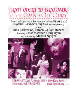 MECA presents Opera to Broadway to the Grand Ole Opry