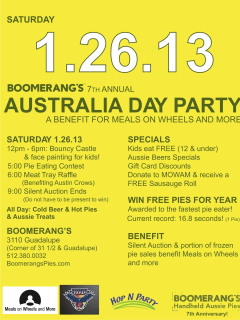 Austin Photo Set: Events_AustraliaDay_Boomerangs_Jan2013