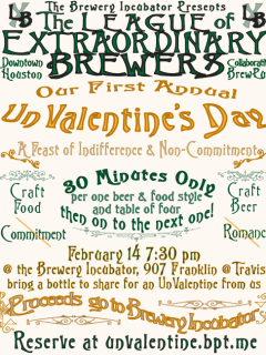 "The League of Extraordinary Brewers' ""#UnValentine"""