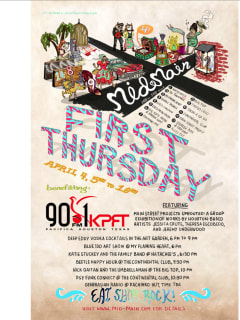 Mid Main First Thursday April 4th benefits KPFT Houston