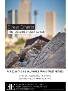 Art opening reception: Street Smarts Photography by Alex Barber