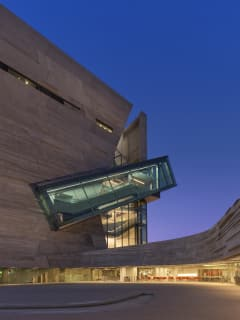 Plaza at Night at Perot Museum of Nature and Science