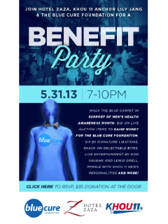 """Party in Blue"" benefiting the Blue Cure Foundation"