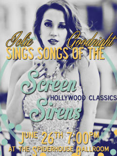 Screen Sirens with Jolie Goodnight flyer