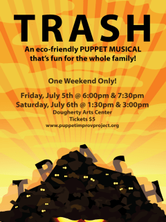 Puppet Improv Project Trash the musical poster