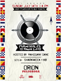 Turntables on Town Lake with Capital Cruises poster