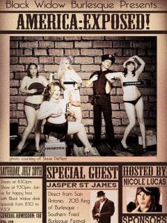 Black widow burlesque america exposed poster