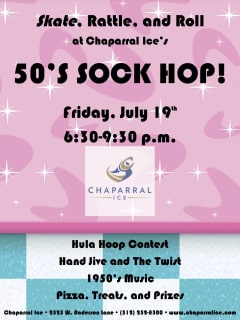 50s party Skate Rattle and Roll at Chaparral Ice