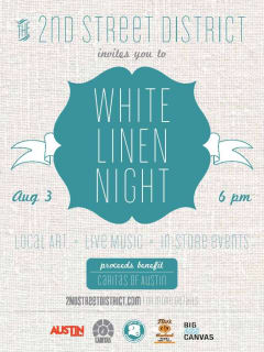 2nd Street Distict White Linen Night flyer for August 2013