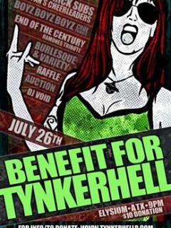 burlesque benefit for Tynkerhell poster