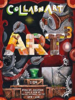 ART3 interactive art experience by collabnart poster
