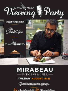 Chef Parind Vora viewing party flyer for Chopped