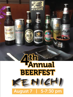 Selection of Japanese beers for Beerfest at Kenichi