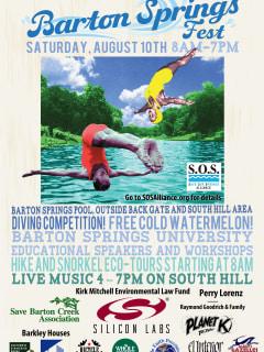 Barton Springs Fest Day poster for 2013