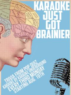 poster for Pop Quiz trivia night and Karaoke Underground
