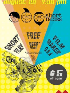 poster for Short Indies screening night at the ND