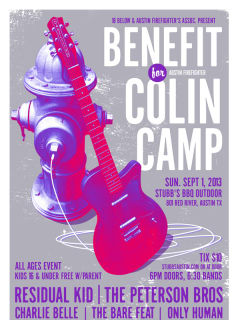 Benefit for Colin Camp poster