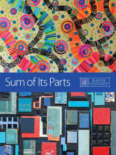 Davis Gallery postcard for gallery opening reception Sum of Its Parts