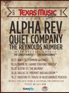 Texas Music Live tour poster 2013