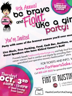 Be Brave and Fight Like a Girl Party flyer