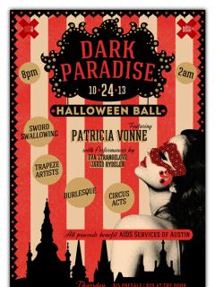Dark Paradise Halloween Ball poster
