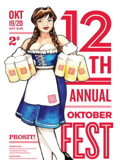 flyer for 12th annual Oktoberfest at NXNW