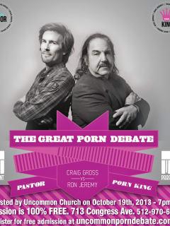 great porn debate poster