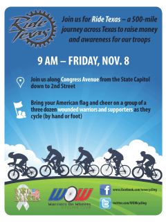 flyer for Ride Texas bike ride