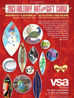 Poster for VSA Texas Holiday Arts and gift show