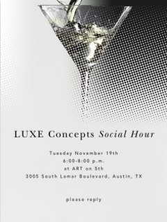 poster for LUXE Concepts Social Hour