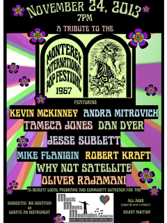 poster for the Monterey Pop festival by Music Moves Mountains Foundation