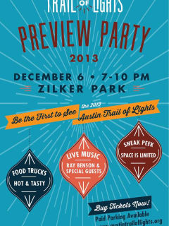 poster for Trail of Lights 2013 Preview Party