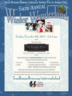 Sixth Annual Winter Wonderland for Texas Humane Heroes