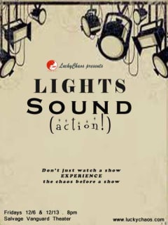 poster for LuckyChaos Lights. Sound. (action!) play
