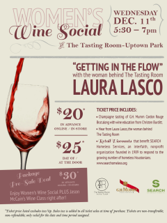 "Women's Wine Social featuring Laura Lasco ""Getting into the Flow"""