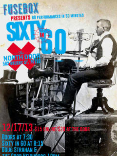 poster for Fusebox Festival presents 60 in Sixty with Doug Strahan and the Good Neighbors