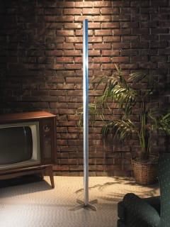 Festivus pole in living room in front of TV Seinfeld